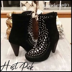 Jeffrey Campbell Studded whipstitch booties Size 7
